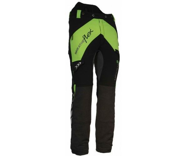 Arbortec Breatheflex chainsaw trousers Type C, class 2 (Lime) (X-Small)