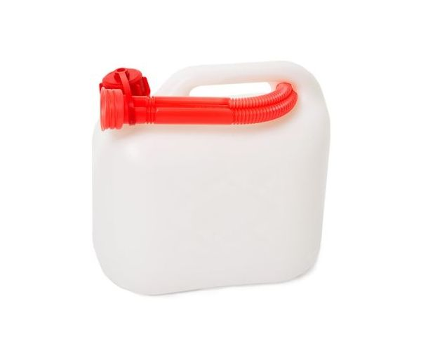 Plastic fuel can (5 litre) (Clear)