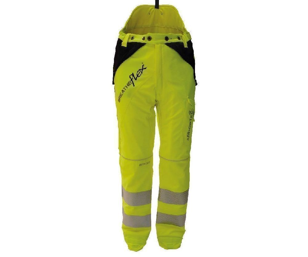 Arbortec Breatheflex chainsaw trousers Type C, class 1 (Hi-viz yellow)