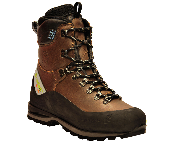 Arbortec Scafell Lite leather chainsaw boots (brown) (class 2)
