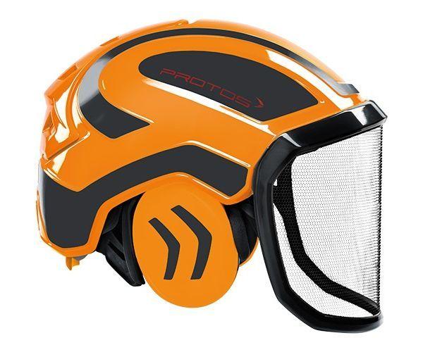 Pfanner Protos Integral forest helmet (ground use only) (Orange/Grey)