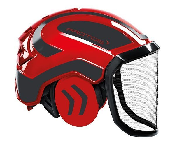 Pfanner Protos Integral forest helmet (ground use only) (Red/Grey)