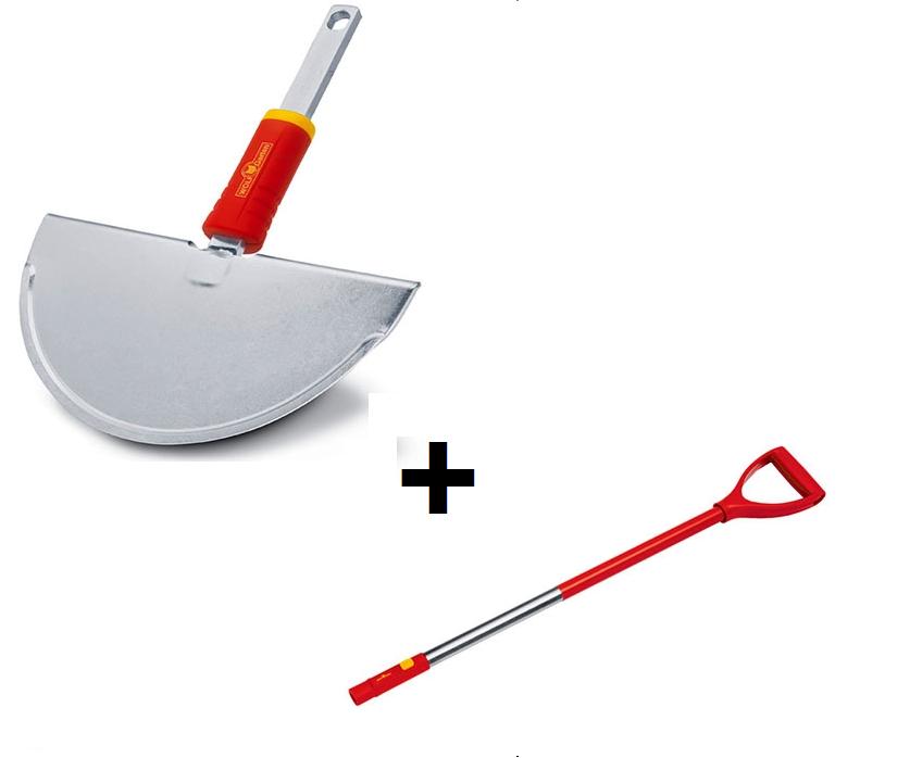 Wolf Garten multi-change lawn edge iron with aluminium D-grip handle