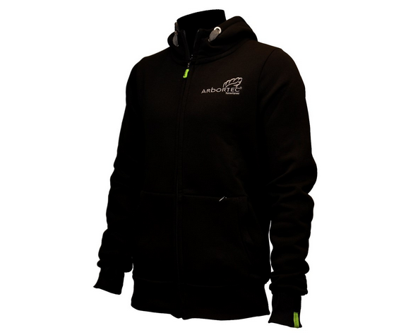 8f83af6a9 Arbortec zip front 'Protecting Your Lifestyle' hoodie jacket (Black)