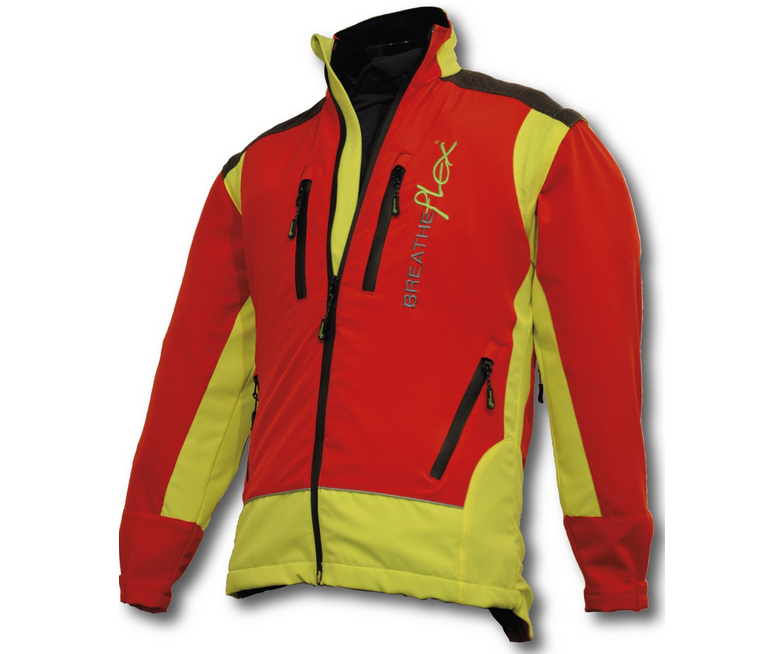 Arbortec Breatheflex performance work jacket (Red/yellow)