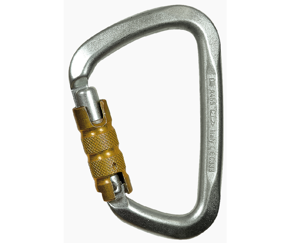 CT 50kN Large 3 way steel karabiner