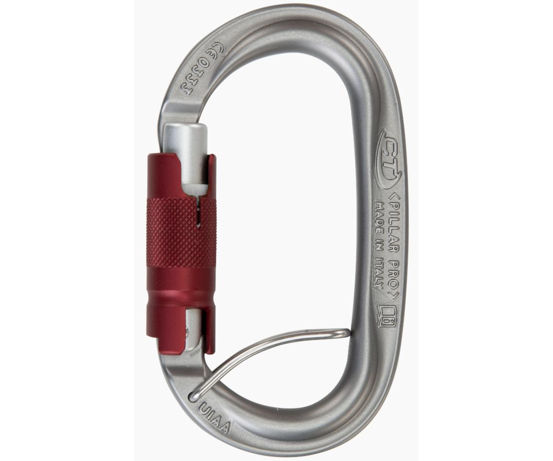 CT 25kN Pillar Pro 3 way aluminium spring bar karabiner with wire eye