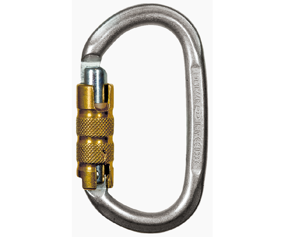CT 30kN Pillar 3 way steel karabiner