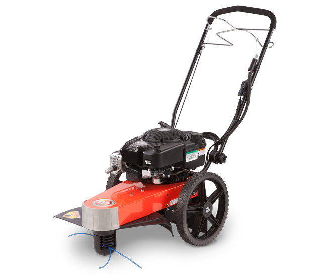 DR TR4 8.75 SP PRO-XL self-propelled electric wheeled trimmer