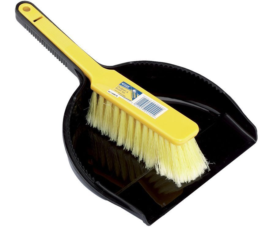 Draper dust pan and brush set