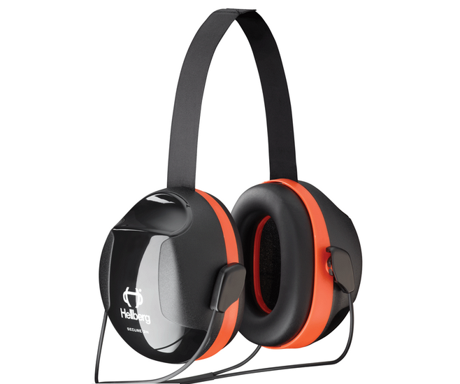 Hellberg orange neckband ear defenders, Secure 3 (33 SNR)
