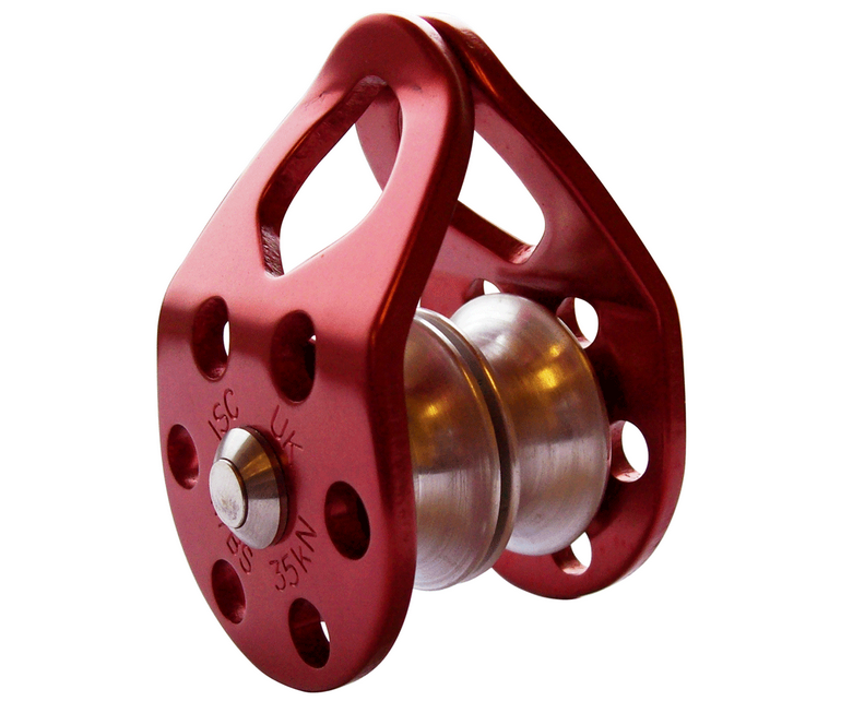 ISC 36kN double swing cheek micro pulley (red)