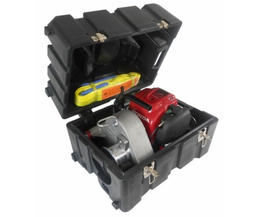 Portable Winch transport case with molded shapes