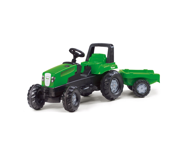 Viking junior-trac sit-on toy tractor with trailer