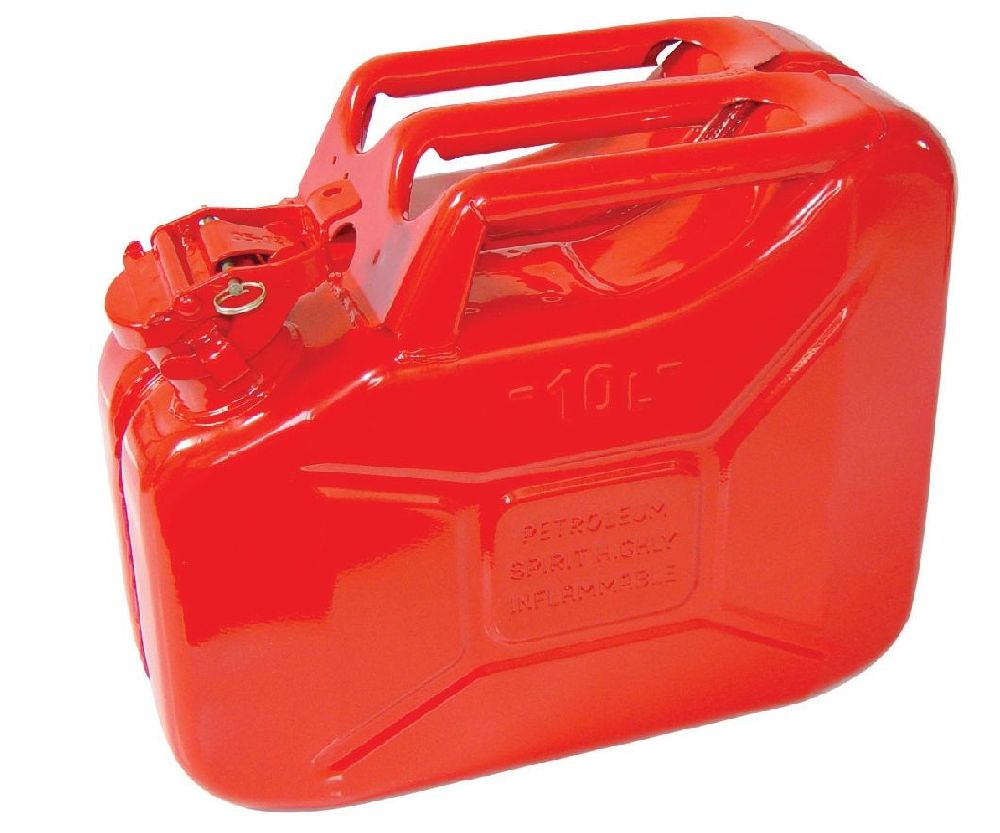 Metal jerry can red (10 litres)