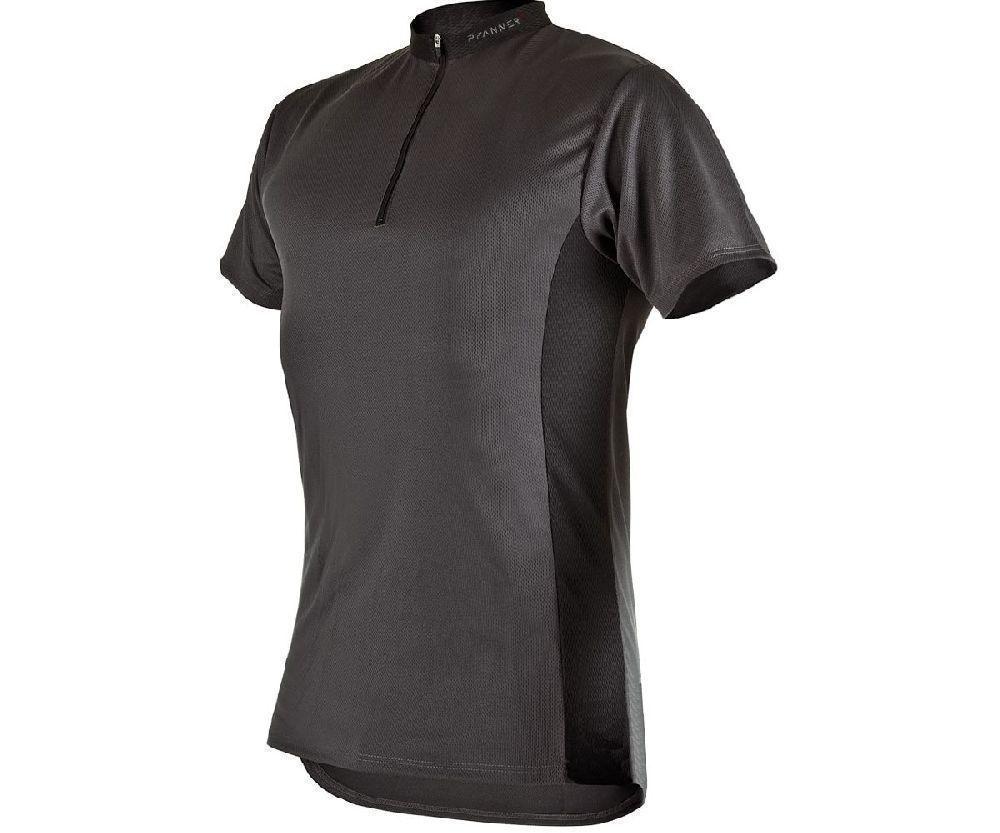 Pfanner zip neck T-shirt short sleeve (Grey)