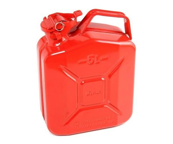 Metal jerry can red (5 litres)