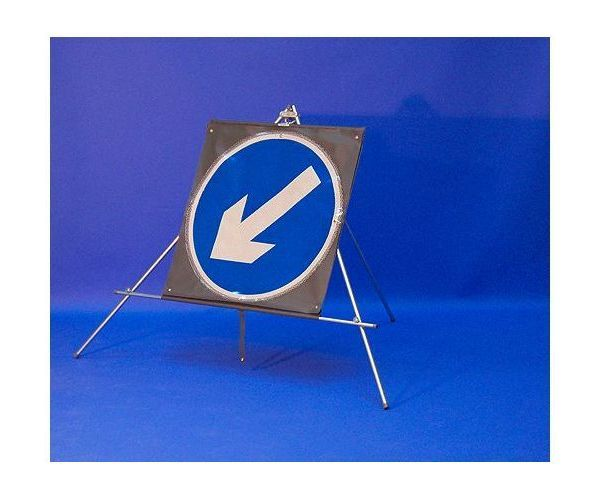 Quazar roll up sign directional arrow rotates