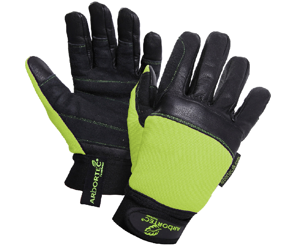 Arbortec AT975 Pro chainsaw gloves - Green (Class 1)