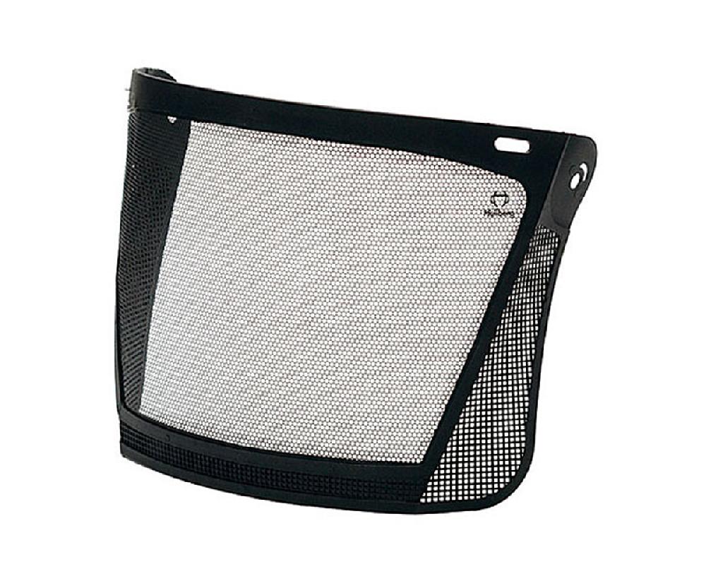 Hellberg etched steel mesh visor