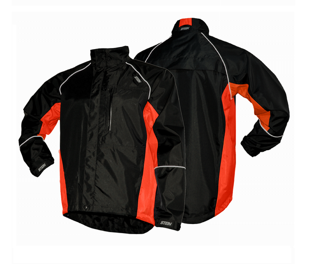 Stein Evolution all-weather jacket (Black & orange) (Small)