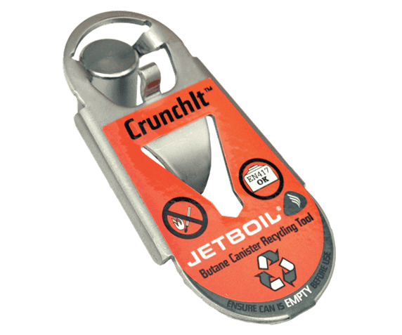 Jetboil CrunchIt butane fuel canister recycling tool