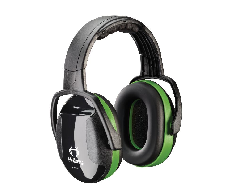 Hellberg green headband ear defenders, Secure 1 (26 SNR)