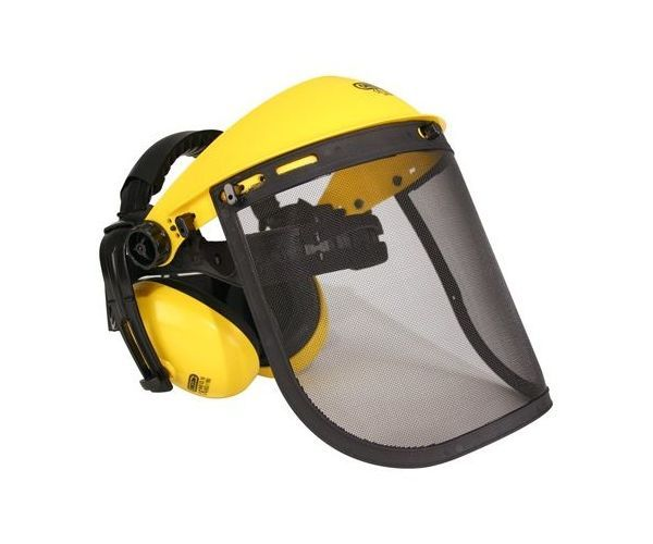 Oregon mesh safety visor with ear defenders kit