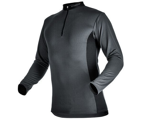 Pfanner zip neck T-shirt long sleeve (Grey)