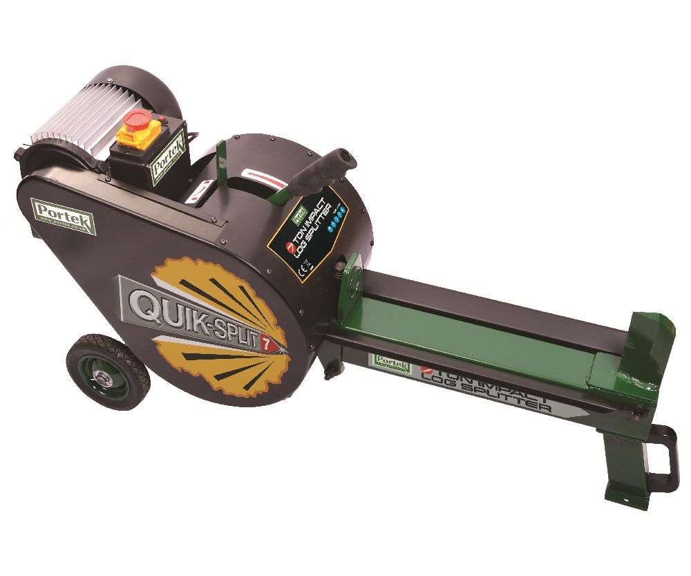 Portek QuikSplit impact Electric log splitter (7 ton)