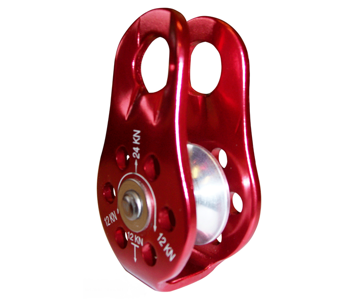 ISC 28kN fixed side micro pulley (red)