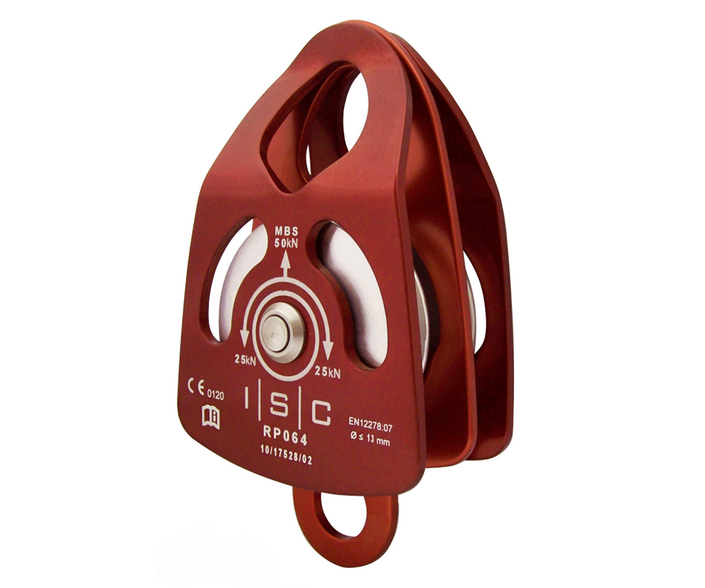 ISC 50kn medium swing cheek double pulley (for 13mm rope)