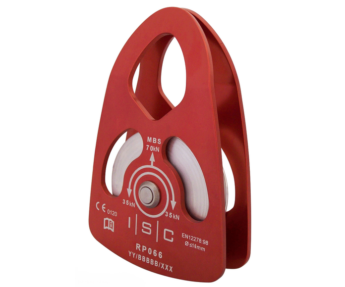 ISC 70kn swing cheek single pulley (for 16mm rope)