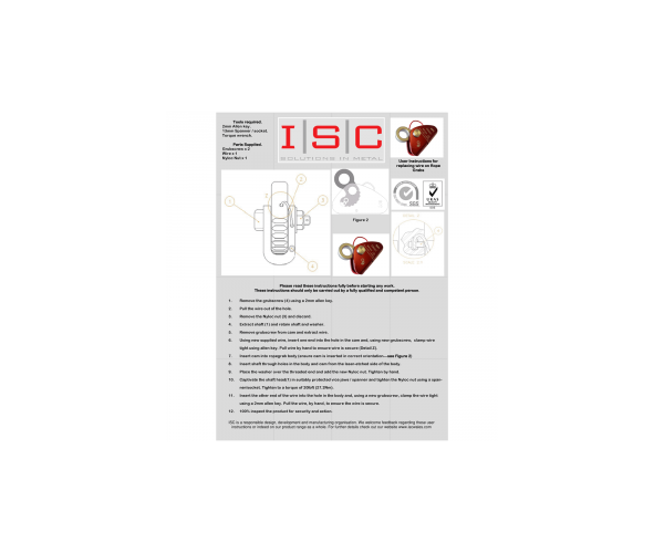 ISC Rope grab service kit
