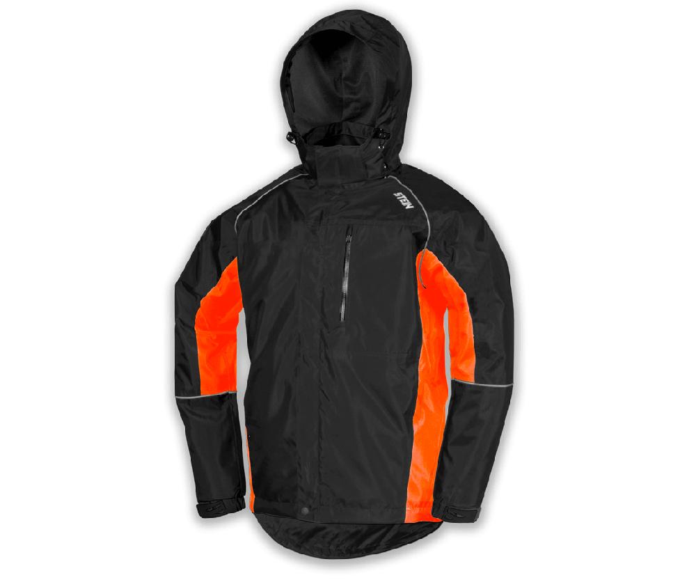 Stein Evolution III all weather work jacket with hood (Black & orange)