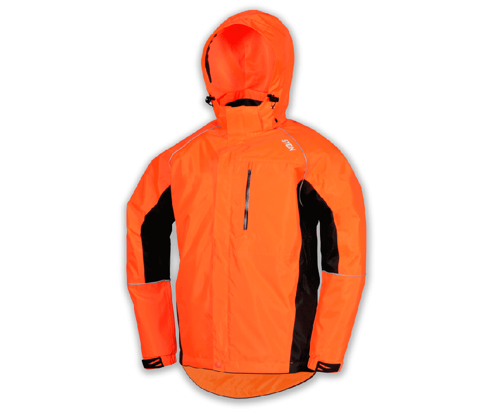 Stein Evolution III all weather work jacket with hood (Orange & black)