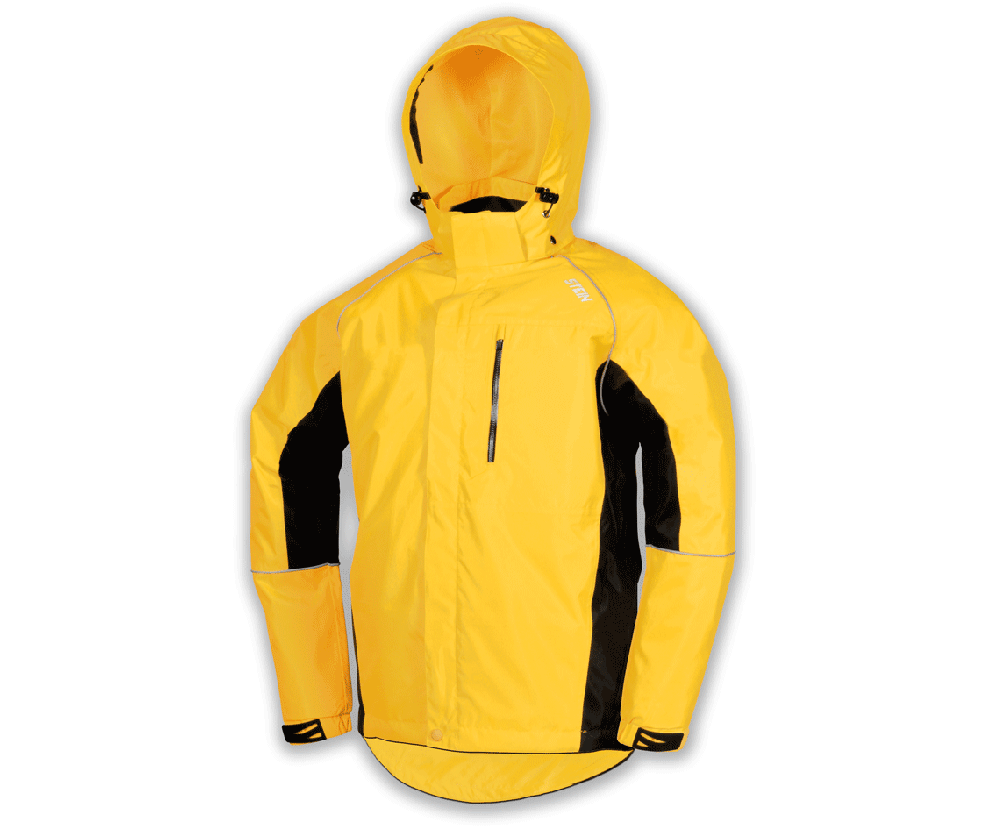 Stein Evolution III all weather work jacket with hood (Yellow & black)