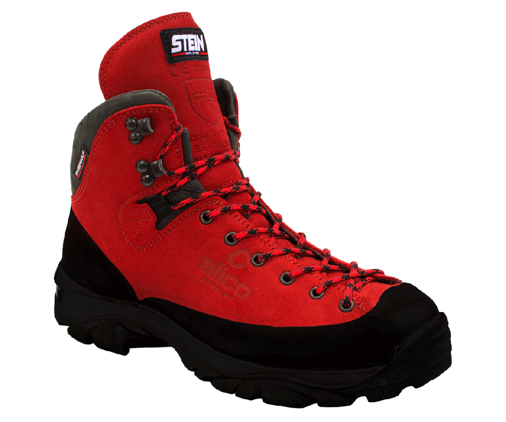 Stein Werewolf climbing chainsaw boots with no steel toe cap (class 1)