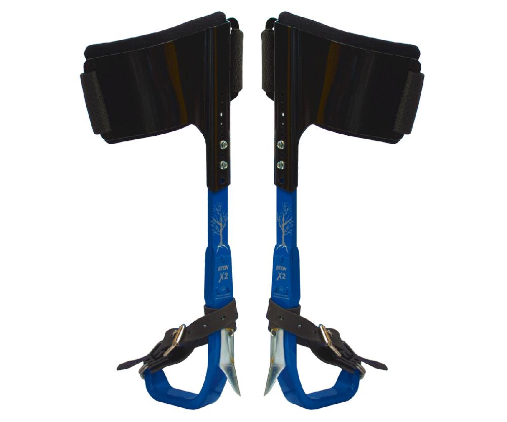 Stein X2 aluminium climbing spikes (blue)