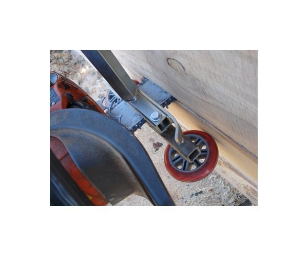 Alaskan Mill thrust wheel set up