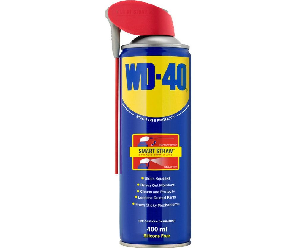WD-40 lubricant spray with smart straw (450ml)