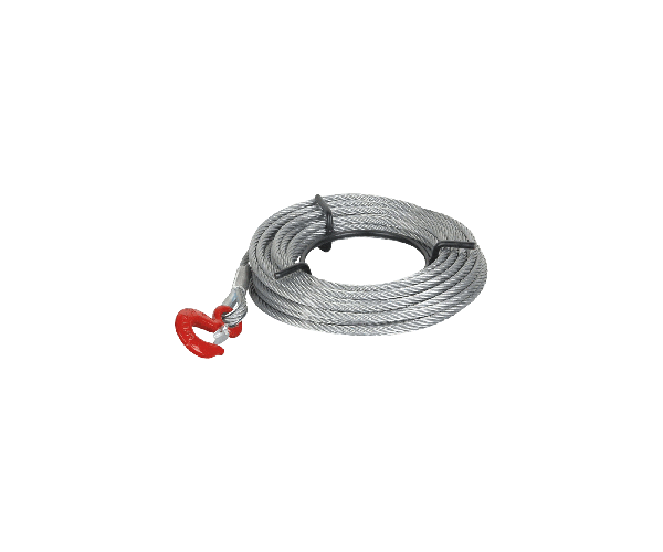 Weblift replacement 11mm winch cable with hook (20m)