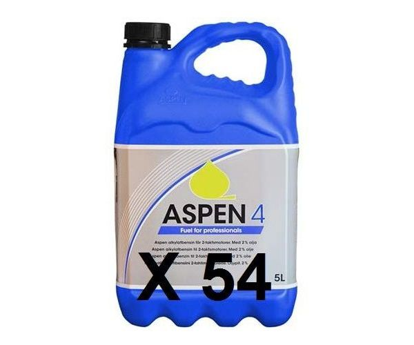 54 Cans - Aspen 4 Alkylate petrol - 5 litre (four stroke)