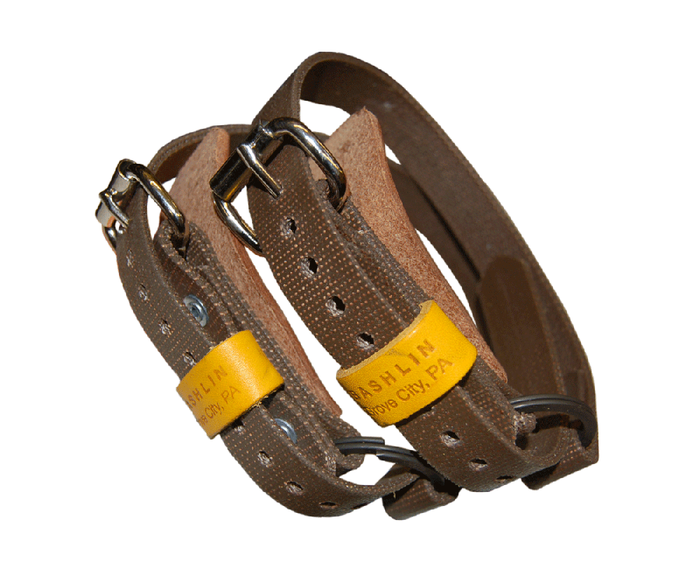 Bashlin bottom straps for climbing spikes