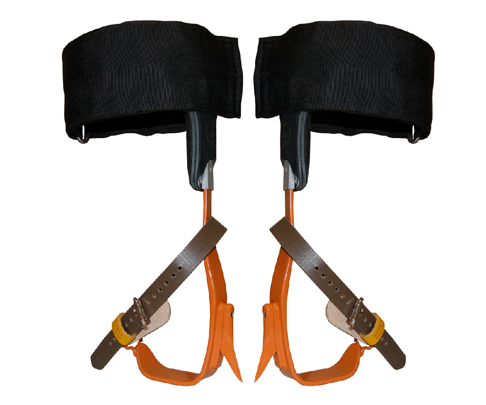 Bashlin twisted steel climbing spikes (velcro pads)