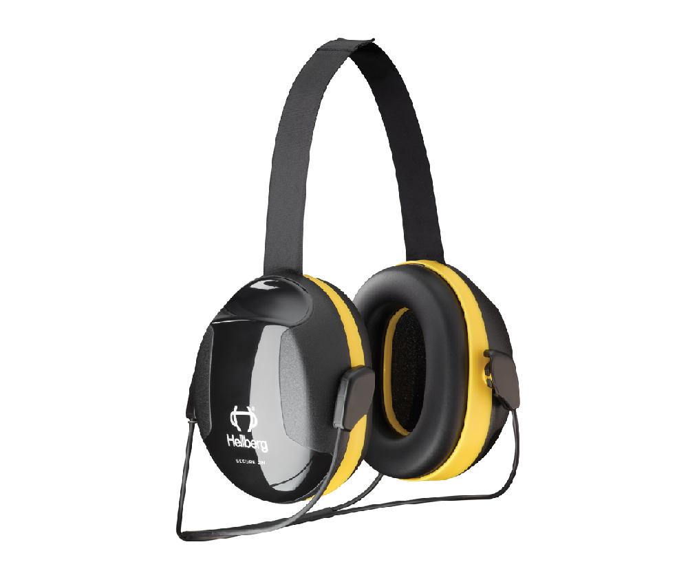 Hellberg yellow neckband ear defenders, Secure 2 (30 SNR)