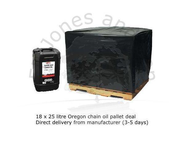 18 x 25 litre Oregon chain oil pallet deal