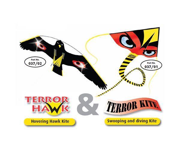 Portek Terror Hawk & Terror Kite silent bird scarer