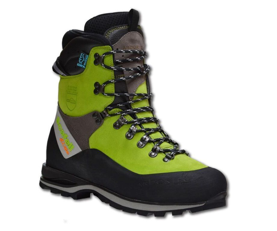Arbortec Scafell Lite chainsaw boots (lime) (class 2)