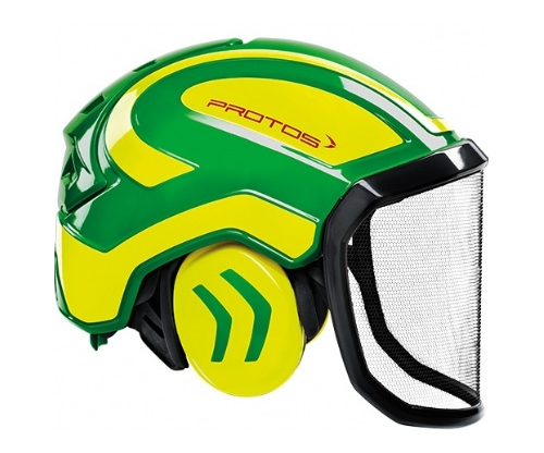 Pfanner Protos Integral forest helmet (ground use only) (Green/Yellow)